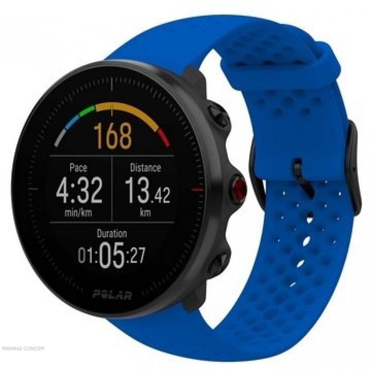 Montre Cardiofrequencemetre Polar Vantage M Bleue 90080197 à Montre Connectée Piscine