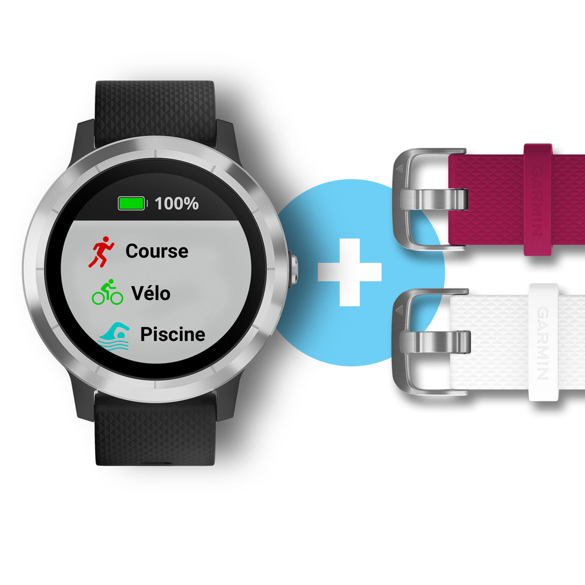Montre Connectée Vivoactive 3 Silver - Édition Noel avec Velo Piscine Decathlon