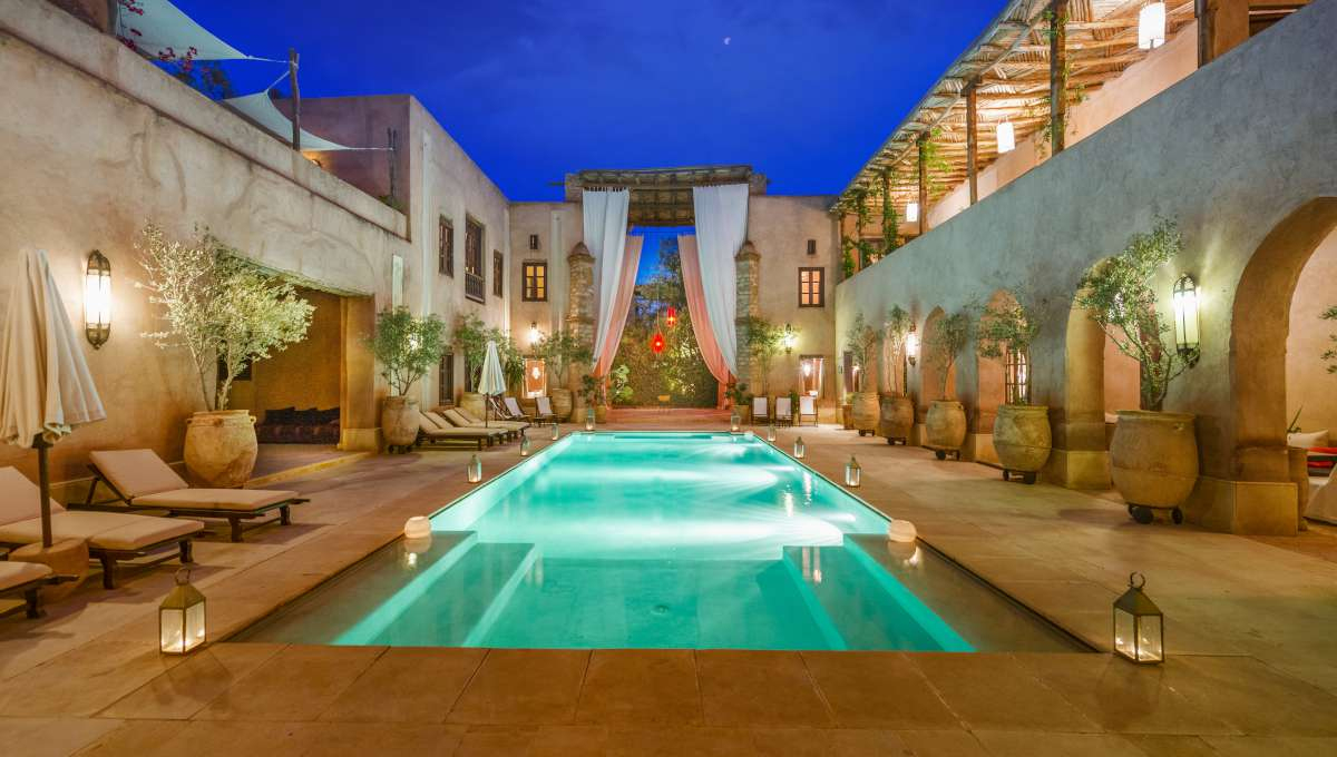 Morocco Riad Vacation Rentals Marrakech Exclusive 17 Rooms And Suite With  Spa Center In The Palmeraie (4) pour Riad Marrakech Avec Piscine