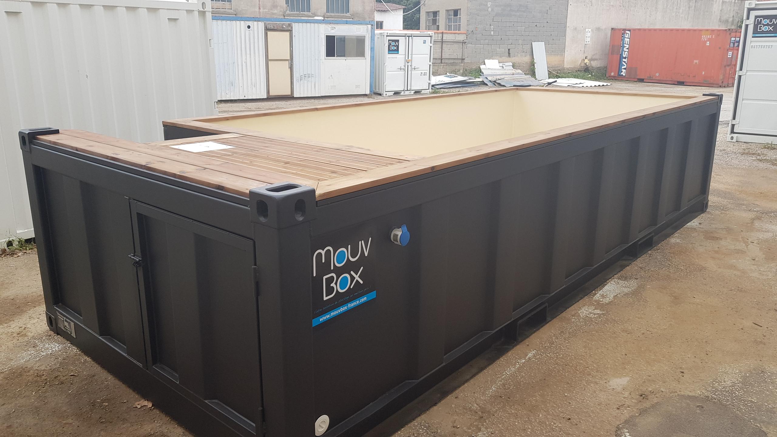 Mouvbox France | Piscine Box 20′ (6M X 2.40M) pour Piscine Conteneur