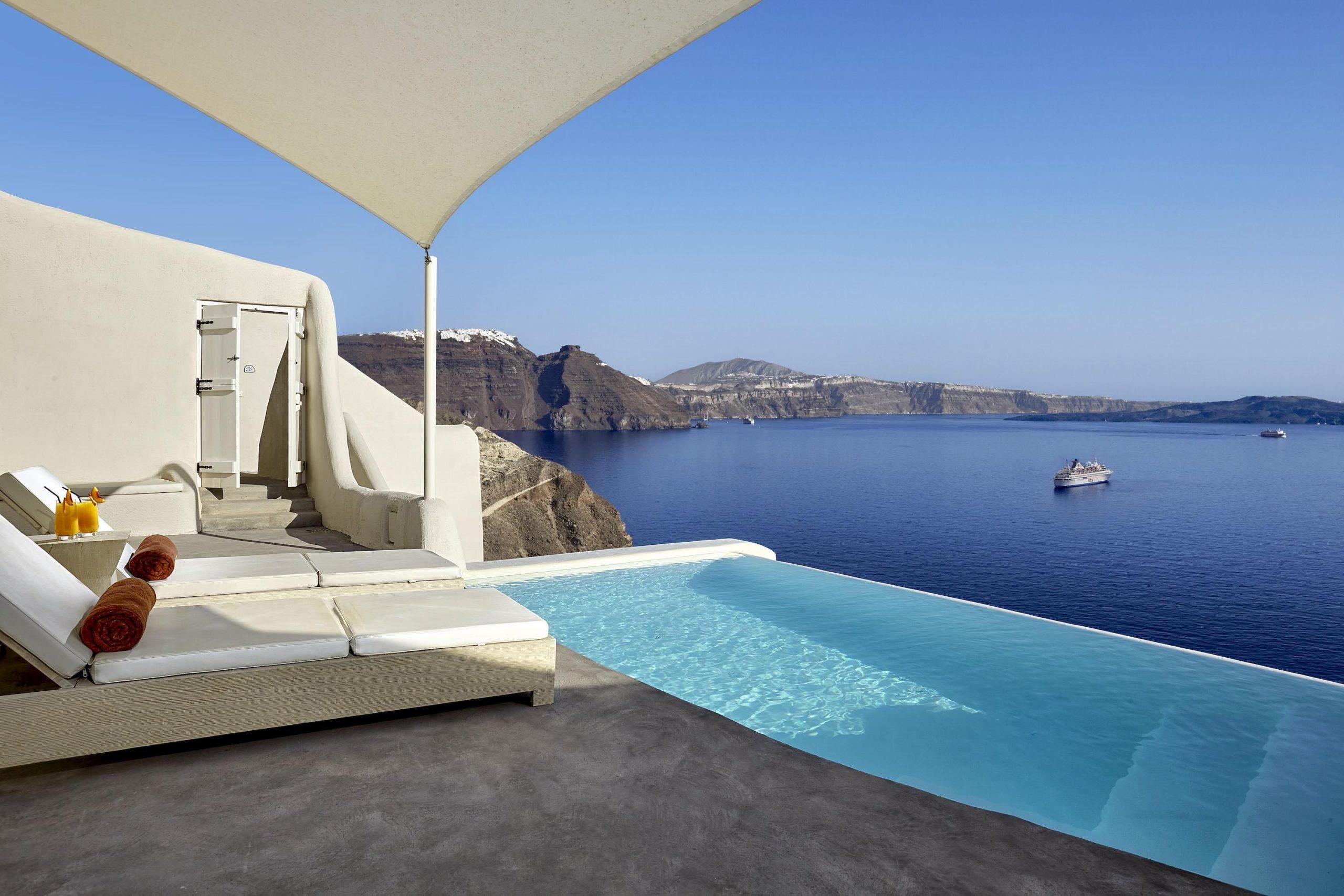 Mystique-Hotel-Santorini | Luxury Collection Hotels serapportantà Jules Verne Piscine