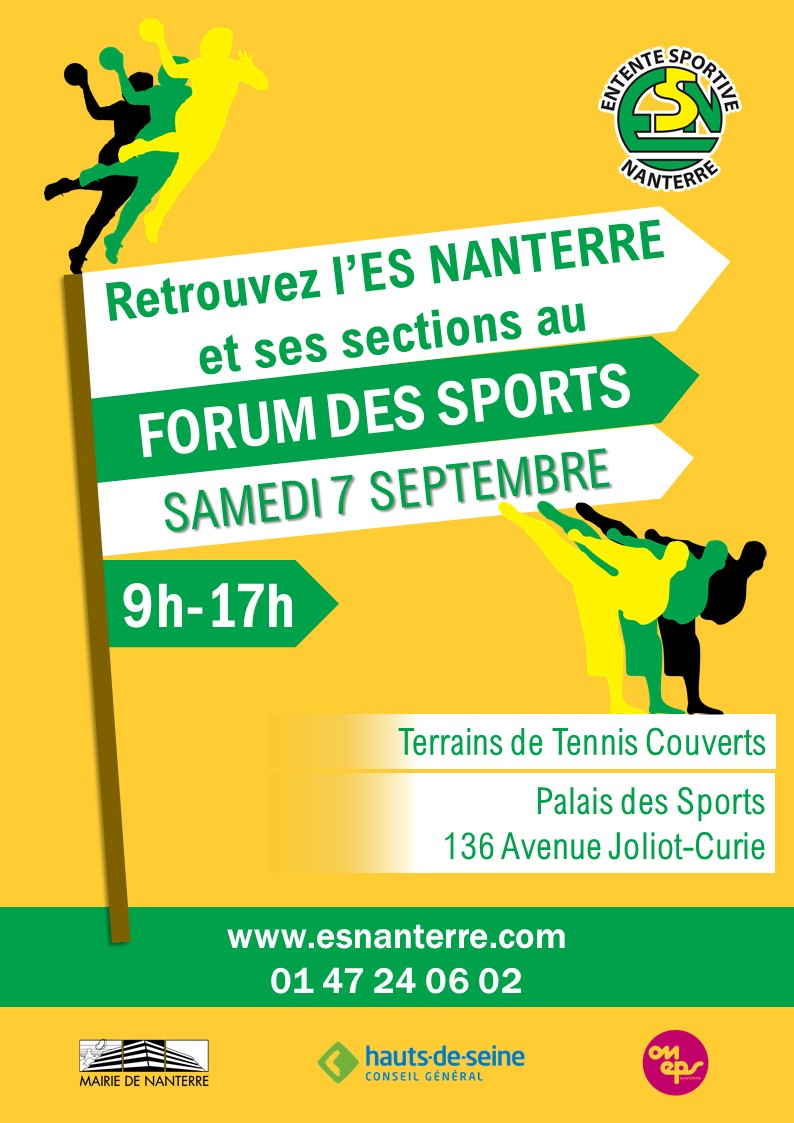 Nanterre  Septembre 2019 : Forum Des Sports Et Nouveau ... pour Piscine Du Palais Des Sports À Nanterre Nanterre