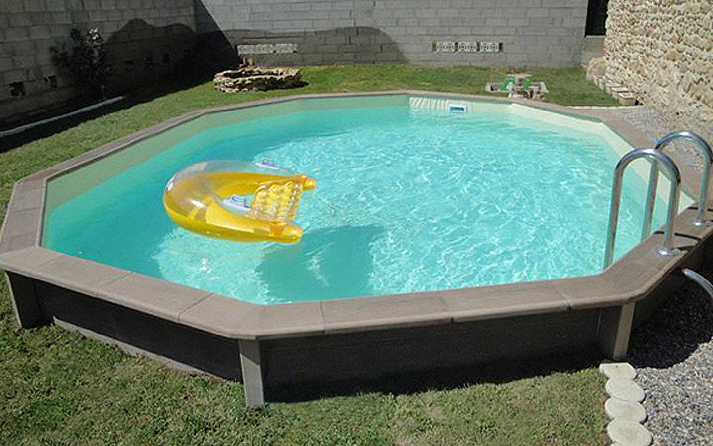 Naturalis | Above Ground Swimming Pool With Wood Look destiné Naturalis Piscine