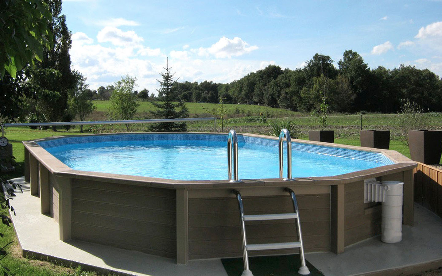 Naturalis | Above Ground Swimming Pool With Wood Look encequiconcerne Naturalis Piscine