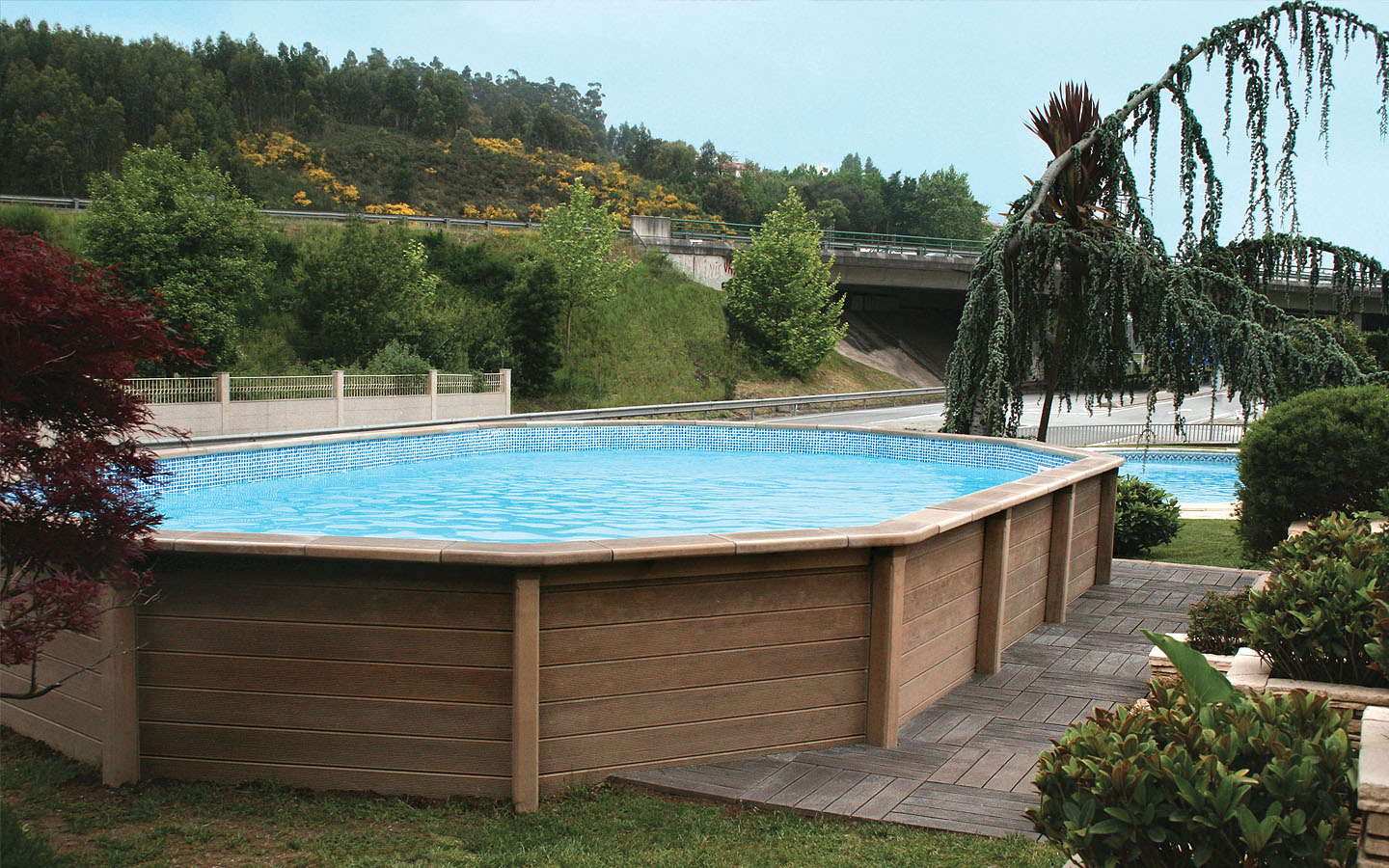 Naturalis | Above Ground Swimming Pool With Wood Look tout Naturalis Piscine