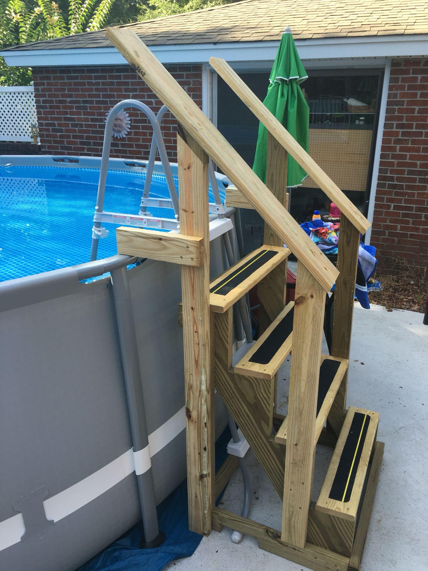 New Above Ground Pool Ladder. | Bricolage | Piscine Intex ... concernant Echelle Piscine Intex