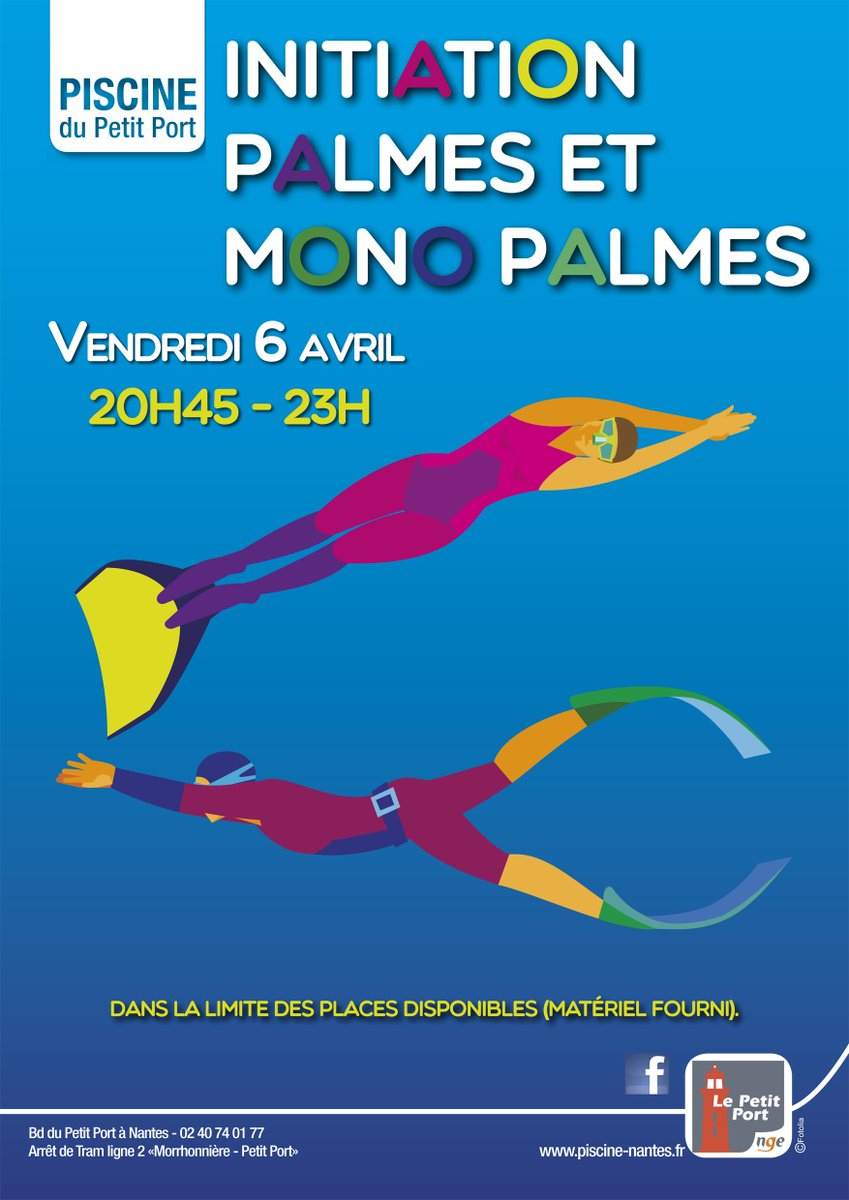 "Nge Nantes On Twitter: ""🏊‍♀ J-1 : Initiation Palmes ... à Piscine Du Petit Port Nantes"