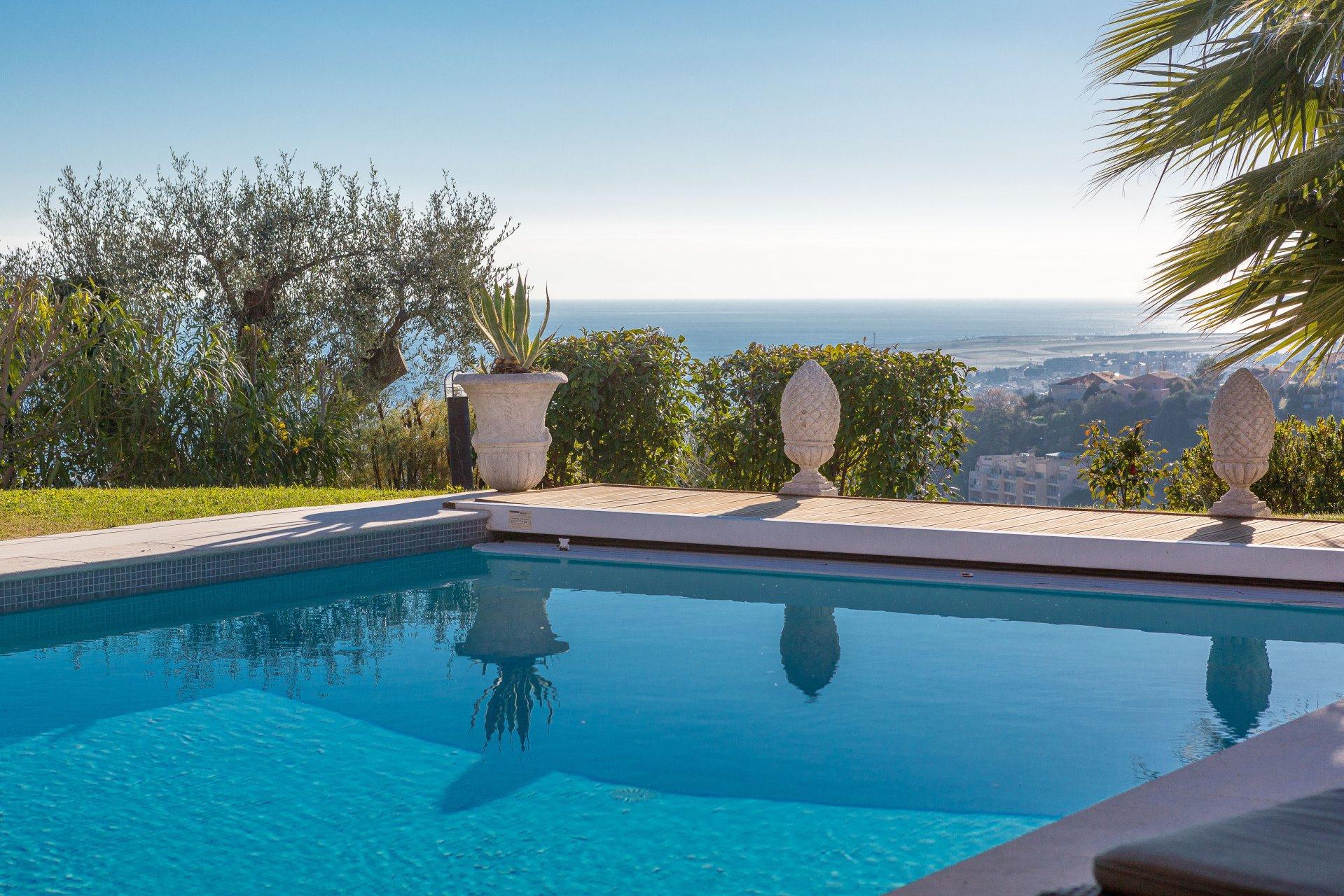 Nice - Belle Villa 5 Chambres Vue Mer - Piscine Chauffée ... avec Piscine Magnan Nice