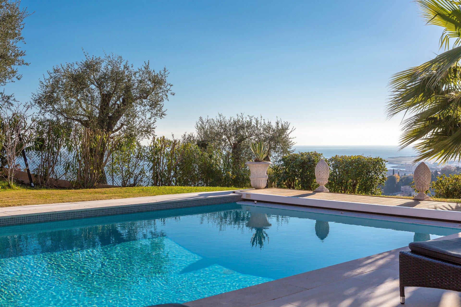 Nice - Magnan - Belle Villa 5 Chambres Avec Vue Mer ... serapportantà Piscine Magnan Nice