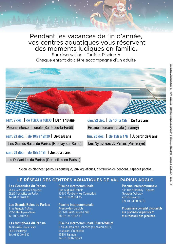 Noël Au Centre Aquatique | Site De La Ville De Pierrelaye intérieur Piscine D Herblay