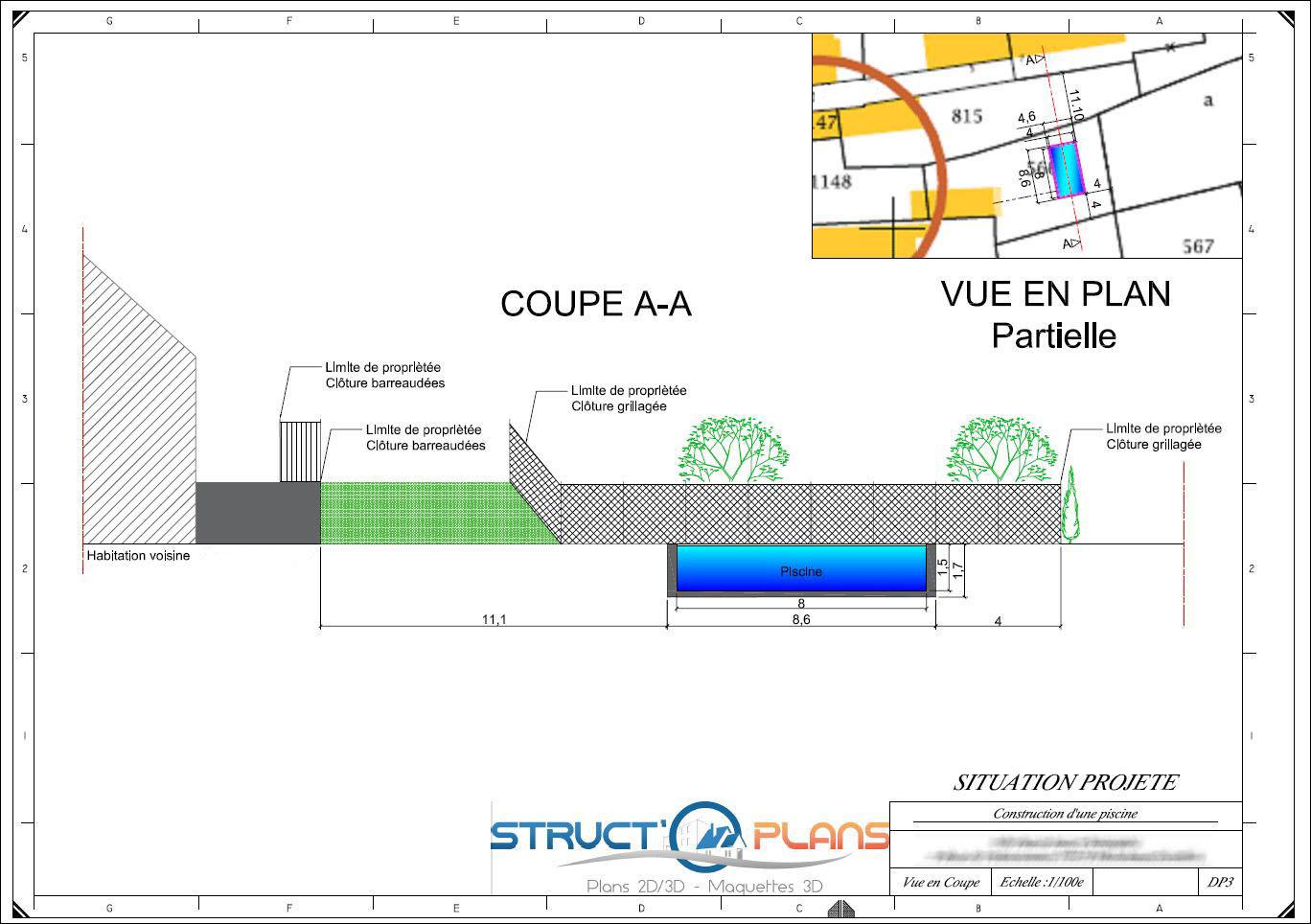 Nos Partenaires - Permis De Construire - Valenciennes à Plan De Coupe Piscine