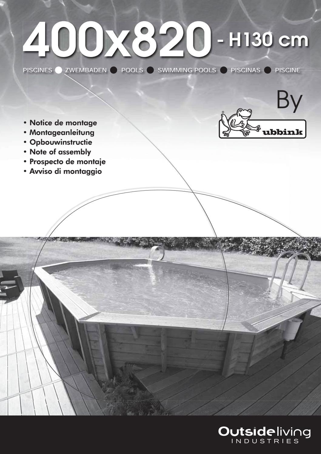 Notice 400X820 - H130-2018_1 K.pdf By ____ - Issuu destiné Filtre A Sable Piscine Mode D Emploi