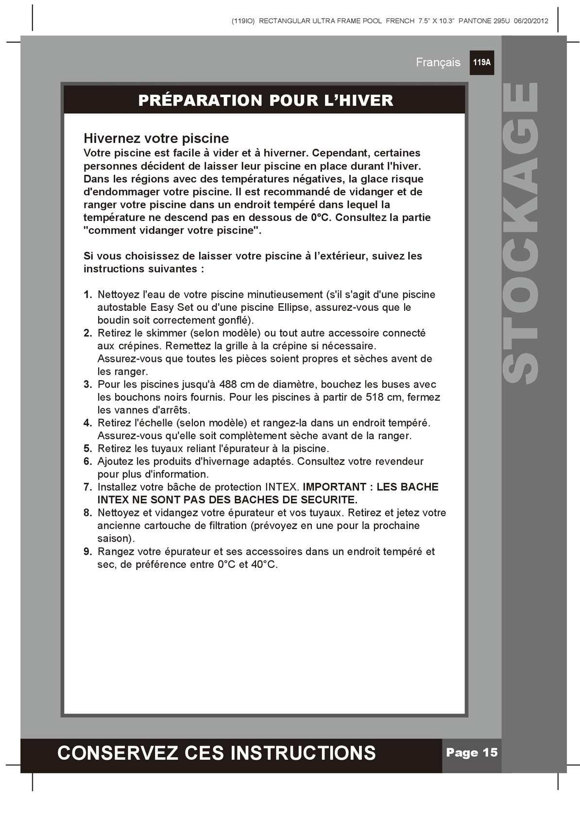Notice De Montage Piscine Tubulaire Ultra Frame - Calameo ... dedans Vider Piscine