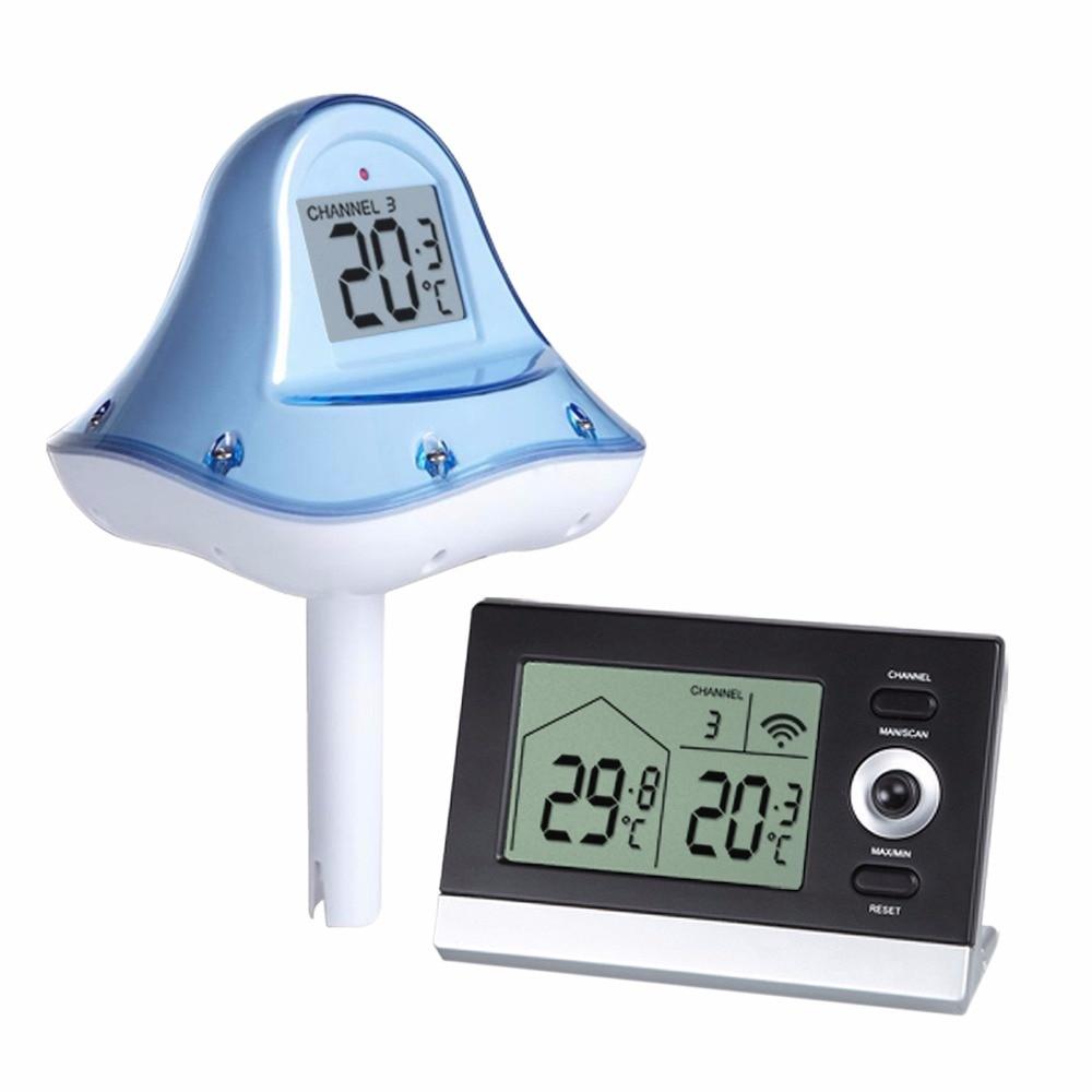 Numérique Sans Fil Flottant Piscine Thermomètre 10 À 60 ... destiné Thermometre Piscine Connecté