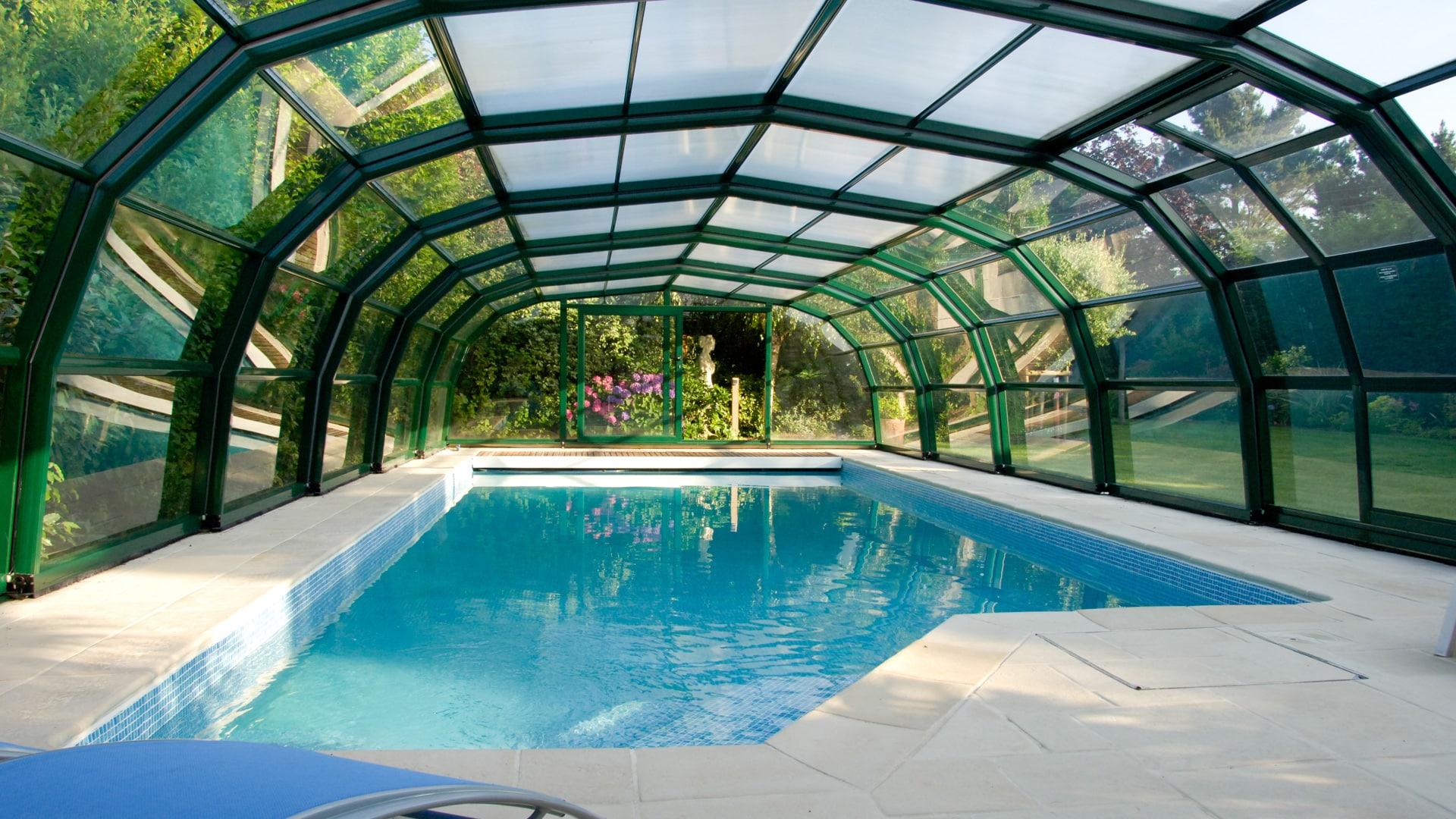 Ondine High Level Pool Enclosure - Telescopic High Level ... serapportantà Piscine Epdm