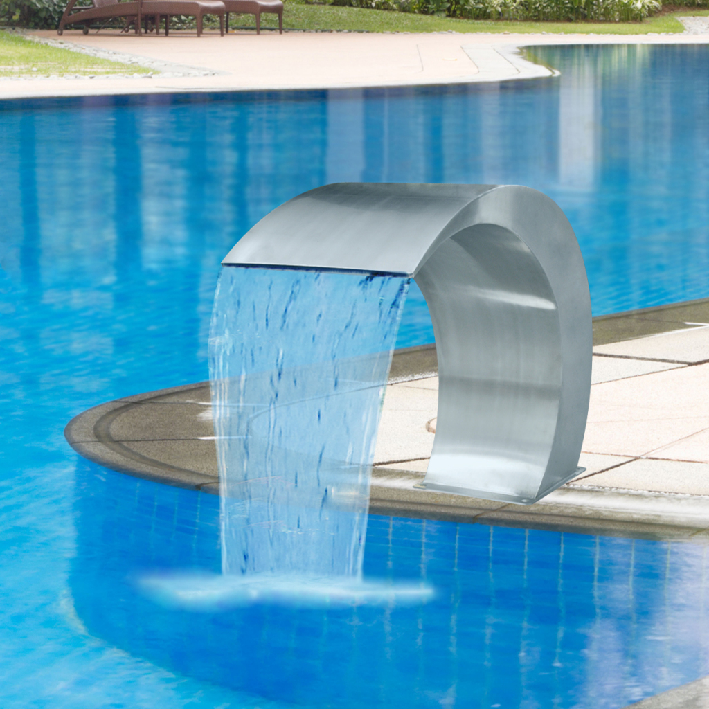 "Only 242.02€, Garden Waterfall Pool Fontaine En Acier Inoxydable 17,7 ""x  11,8"" X 23,6 "" - Lovdock tout Fontaine Pour Piscine"