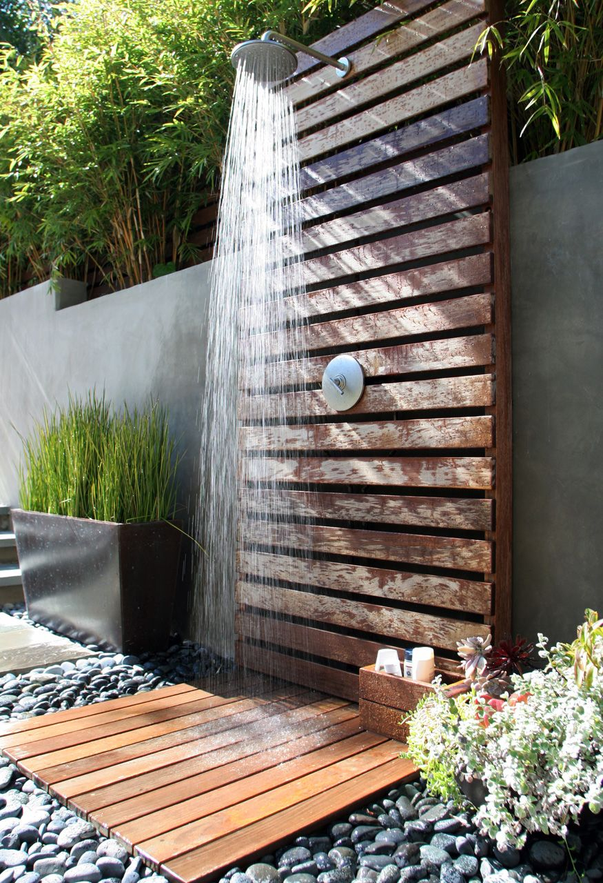 Outdoor Rain Shower | Douche De Jardin, Douche De Rêve Et ... intérieur Douche Extérieure Piscine
