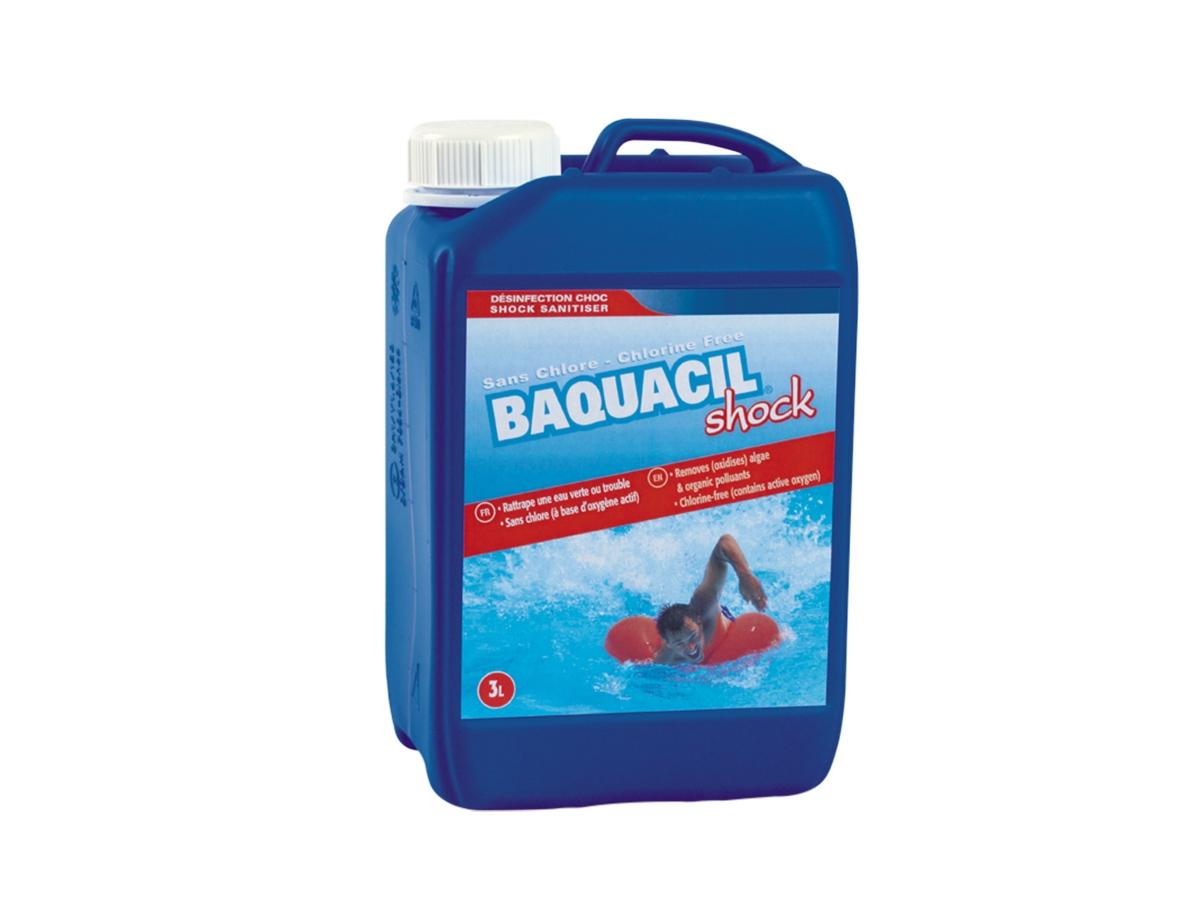 Oxygène Actif Choc Baquacil Shock 3 L - Hth concernant Traitement Piscine Oxygène Actif