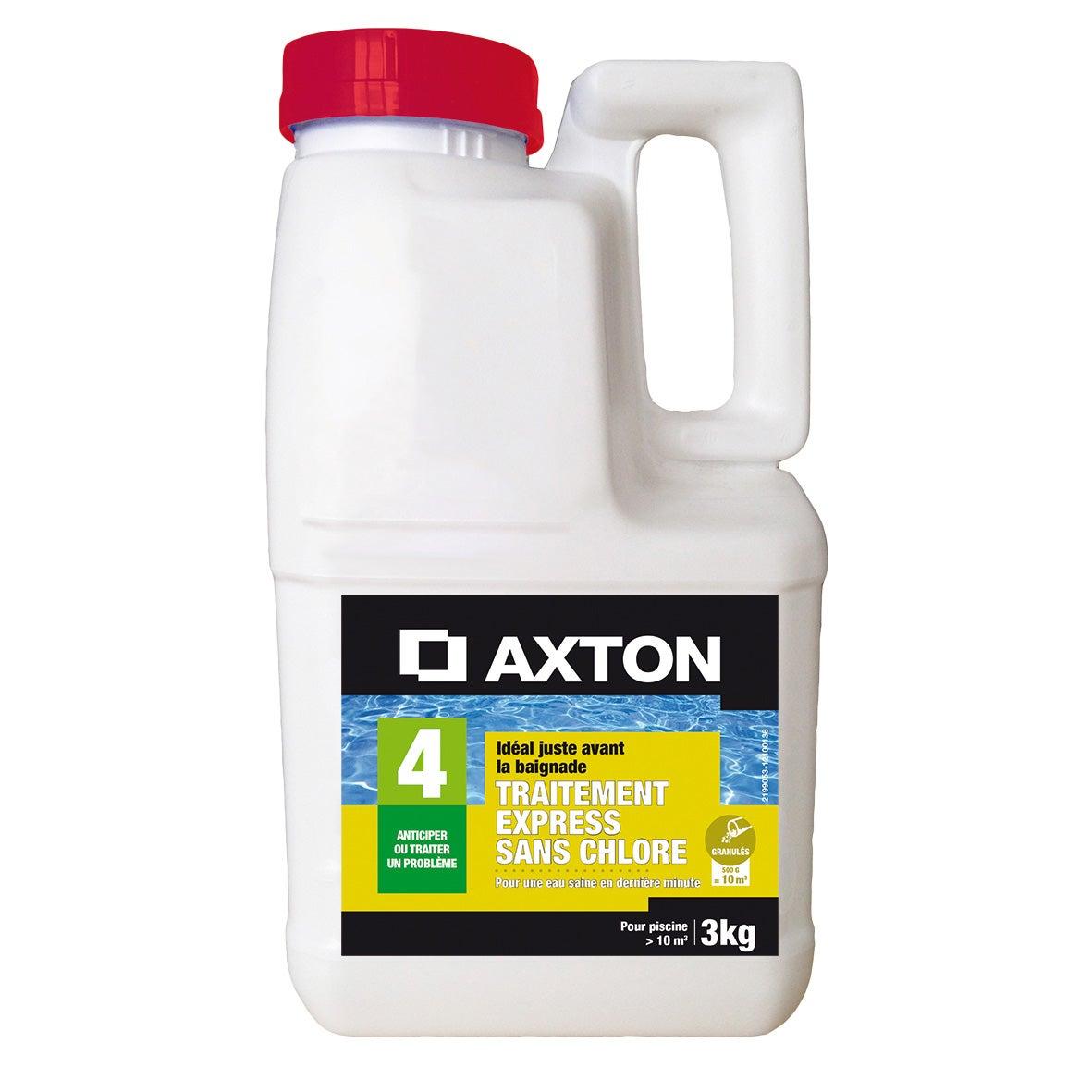 Oxygène Actif Piscine Axton, Granulé 3 Kg avec Traitement Piscine Oxygène Actif