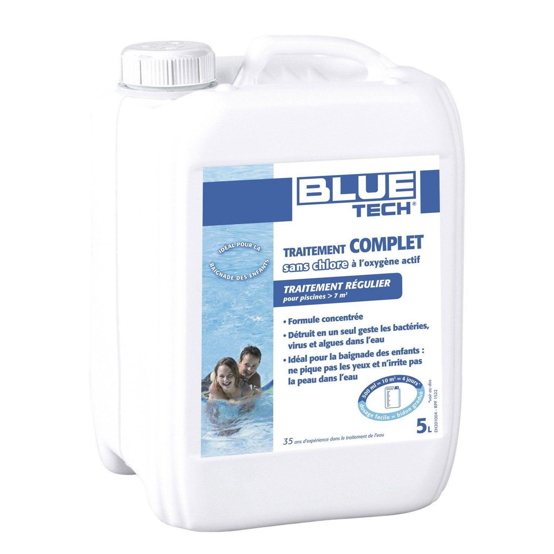 Oxygène Actif Piscine Blue Tech Traitement Sans Chlore 5L ... à Traitement Piscine Oxygène Actif
