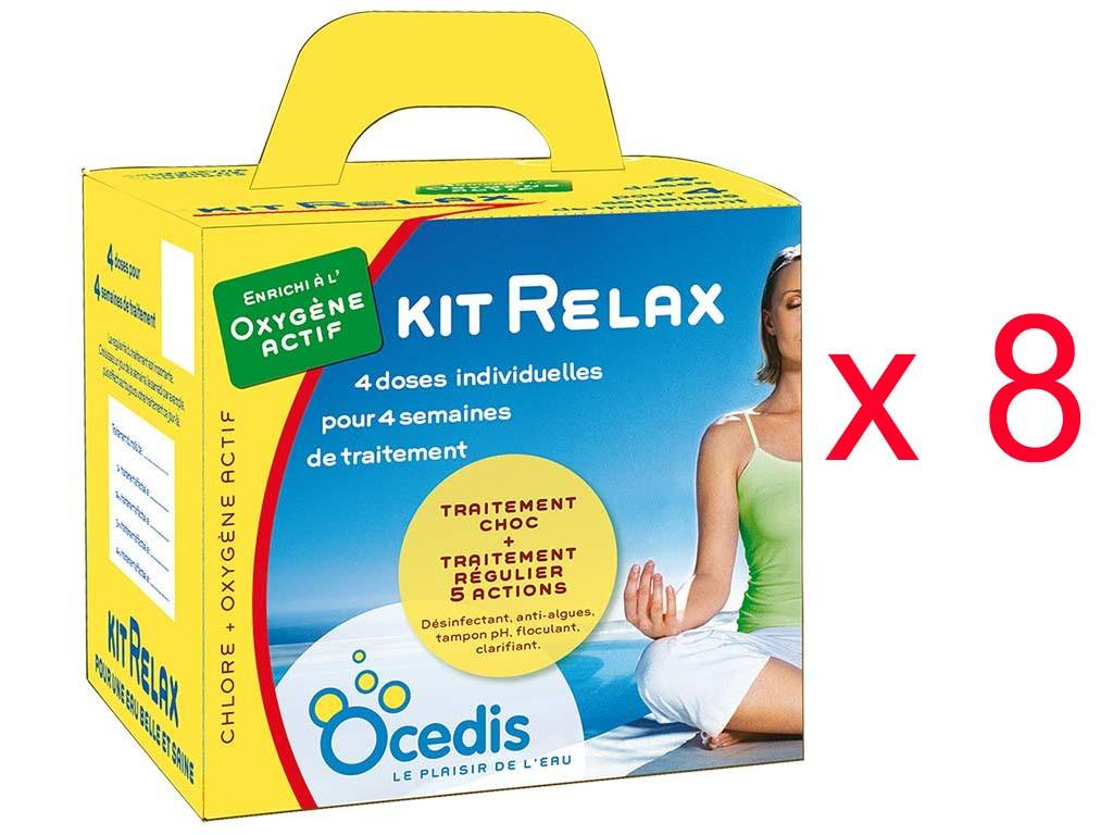 Pack 8 Mois Traitement Oxygène Actif Ocedis Kit Relax Pour Piscine 75M³ dedans Traitement Piscine Oxygène Actif