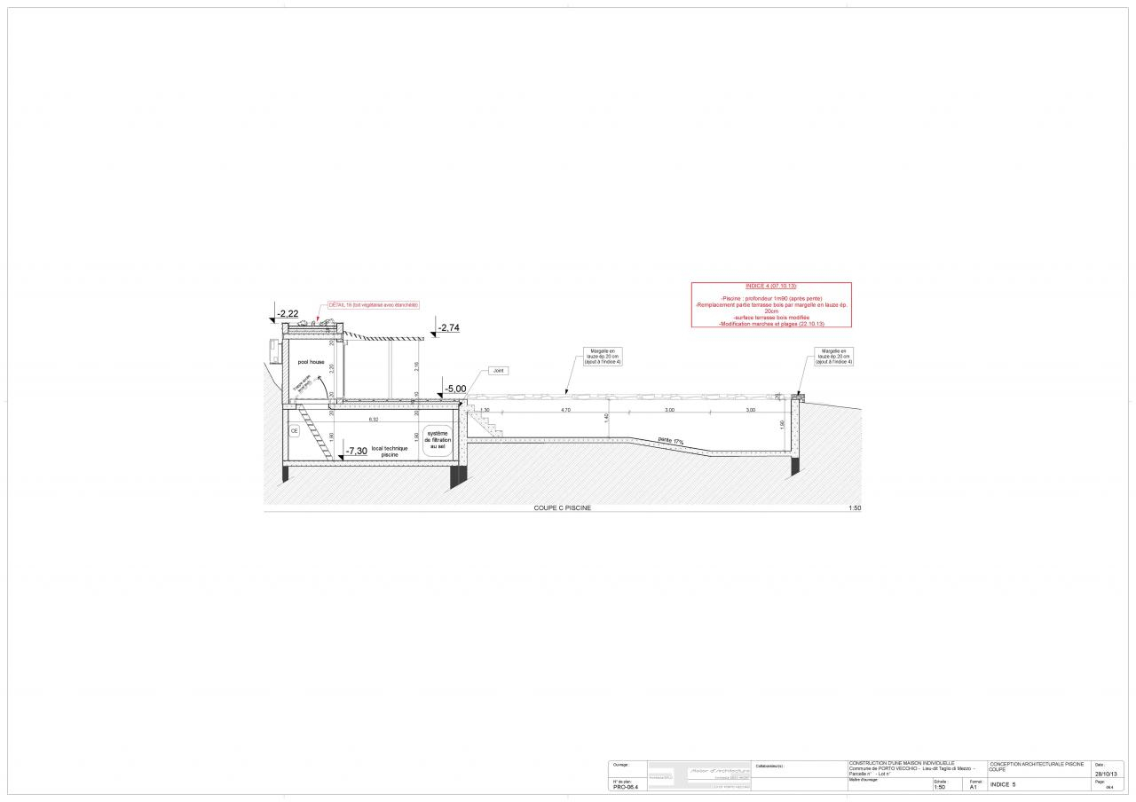 Page De Garde-Pro-Indice 5 Pro-01.0 Plan D ... pour Plan De Coupe Piscine