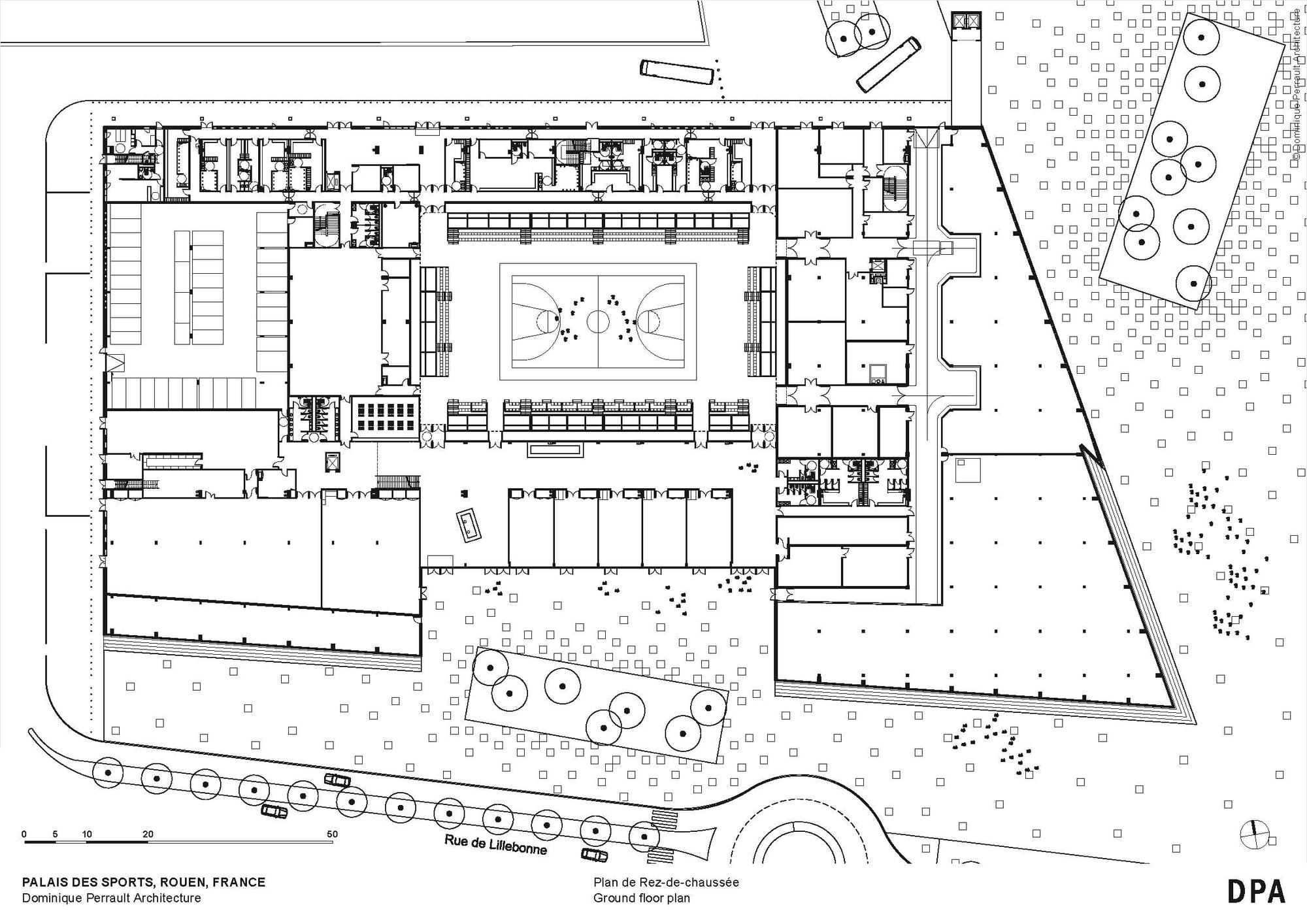 Palais Des Sports De Rouen / Dominique Perrault Architecture ... tout Piscine Eurocéane