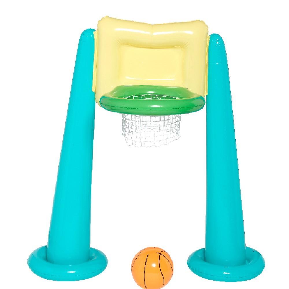 Panier De Basket Gonflable Avec Ballon pour Matelas Gonflable Piscine Gifi