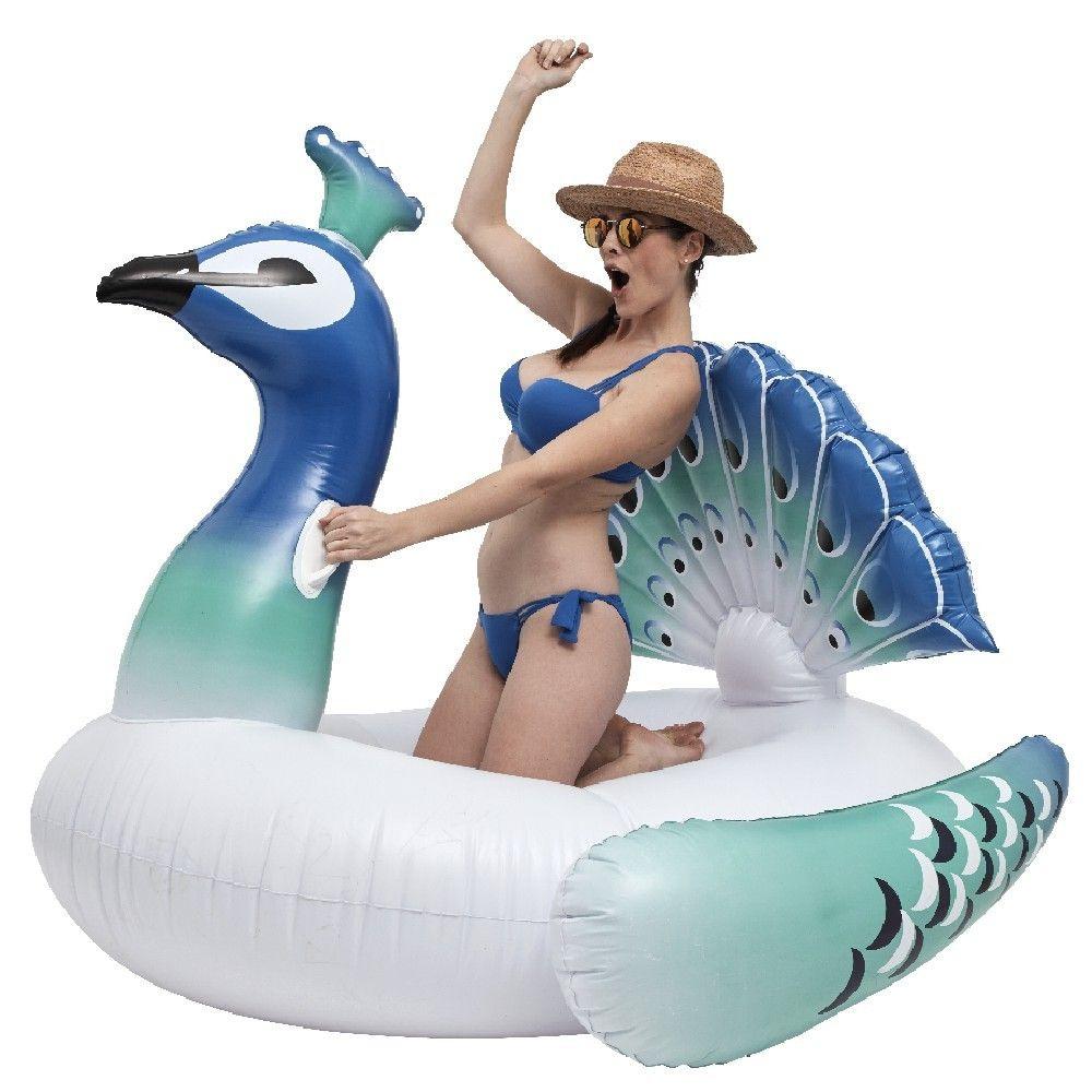Paon Gonflable Blanc Et Bleu En 2019 | Gonflable, Bleu Et Paon intérieur Matelas Gonflable Piscine Gifi