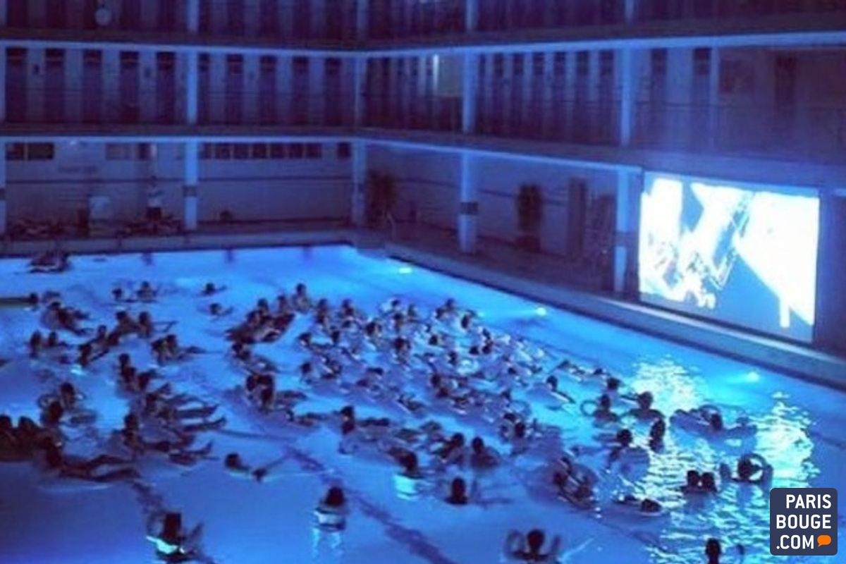 Paris Fait Son Cinéma À La Piscine Pontoise : Tous À L'eau ... concernant Piscine Nocturne Paris