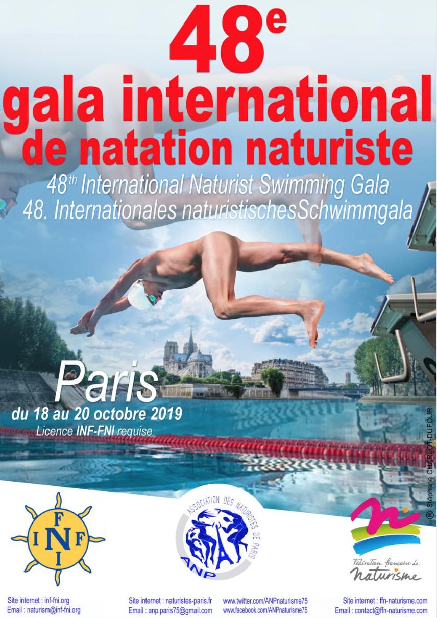 Paris : Le 48E Gala International De Natation Naturiste Aura ... dedans Piscine Naturiste Paris