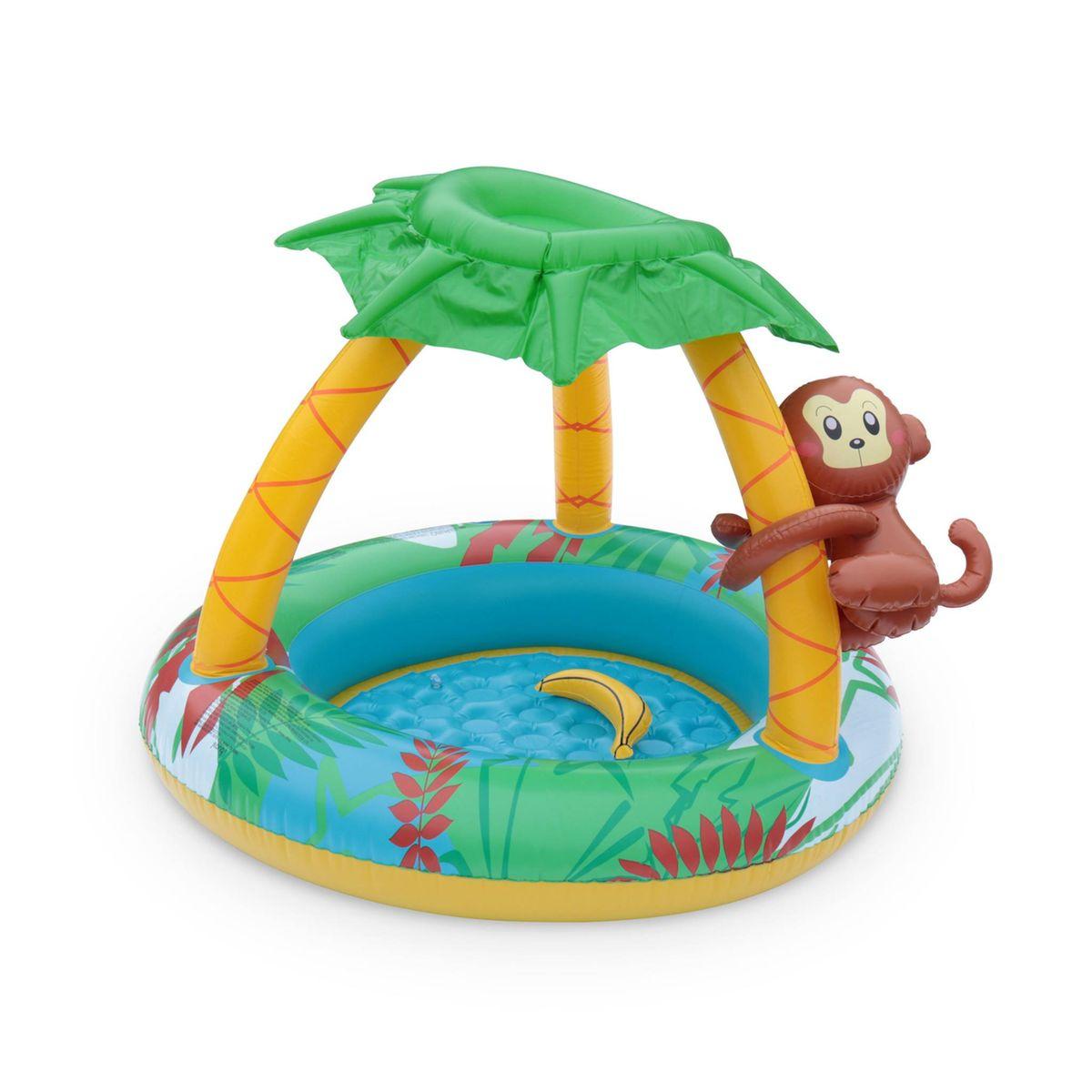 Pataugeoire Gonflable Jungle, Piscine Pour Bébé Avec Pare ... pour Gifi Piscine Bebe