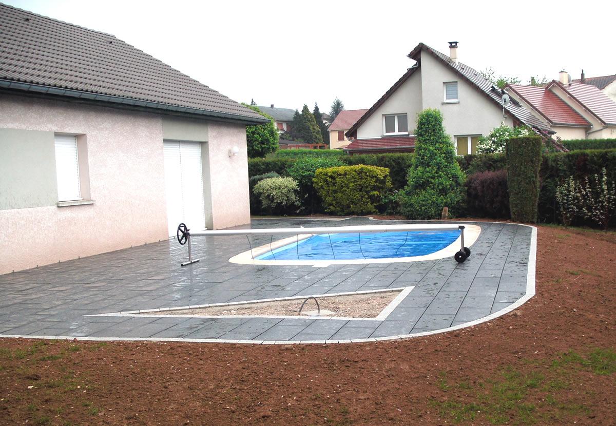 Paysagiste Besançon, Doubs, Aménagement Extérieur ... destiné Entourage Piscine