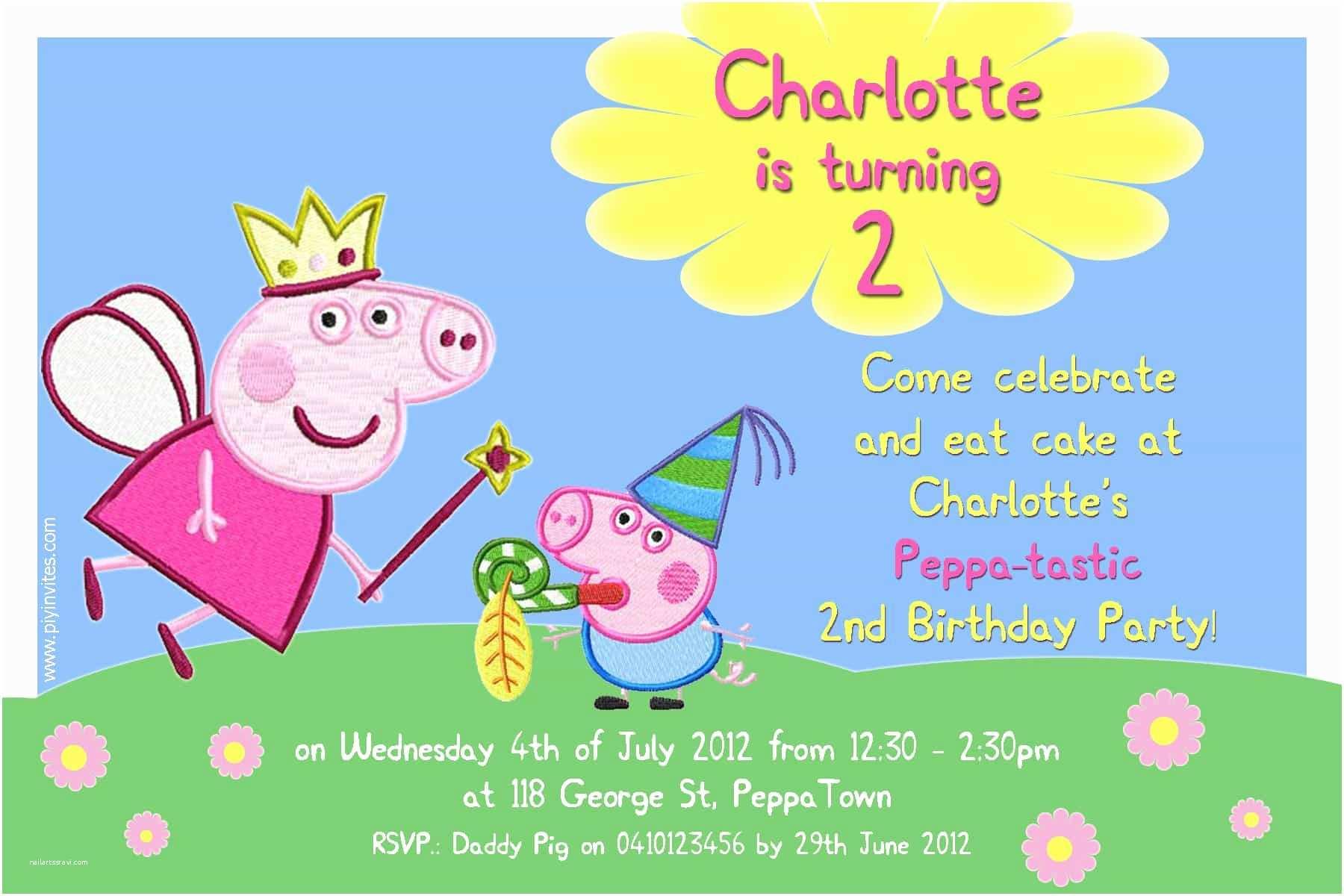 Peppa Pig Birthday Invitations I Make I Peppa Pig Invitation ... concernant Peppa Pig À La Piscine