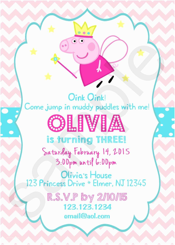 Peppa Pig Birthday Invitations Peppa Pig Princess Birthday ... pour Peppa Pig À La Piscine
