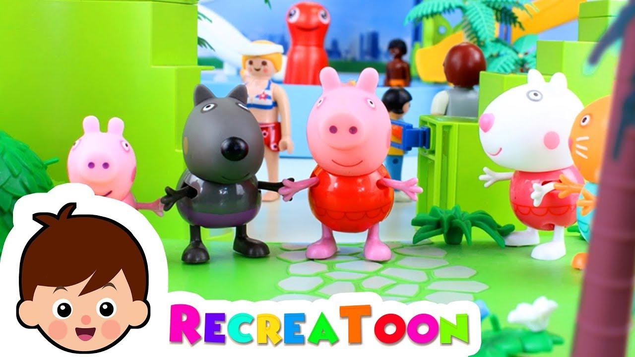 Peppa Pig En Français À La Piscine - Jouet Peppa Pig En Français - Peppa  Pig Jouet intérieur Peppa Pig A La Piscine