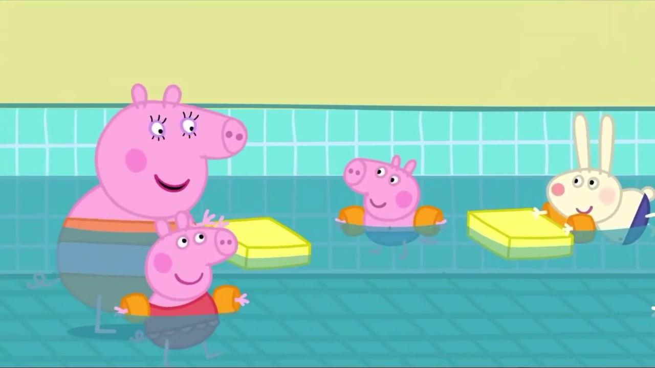 Peppa Pig Français : Tous À La Piscine | L Anniversaire De ... intérieur Peppa Pig À La Piscine