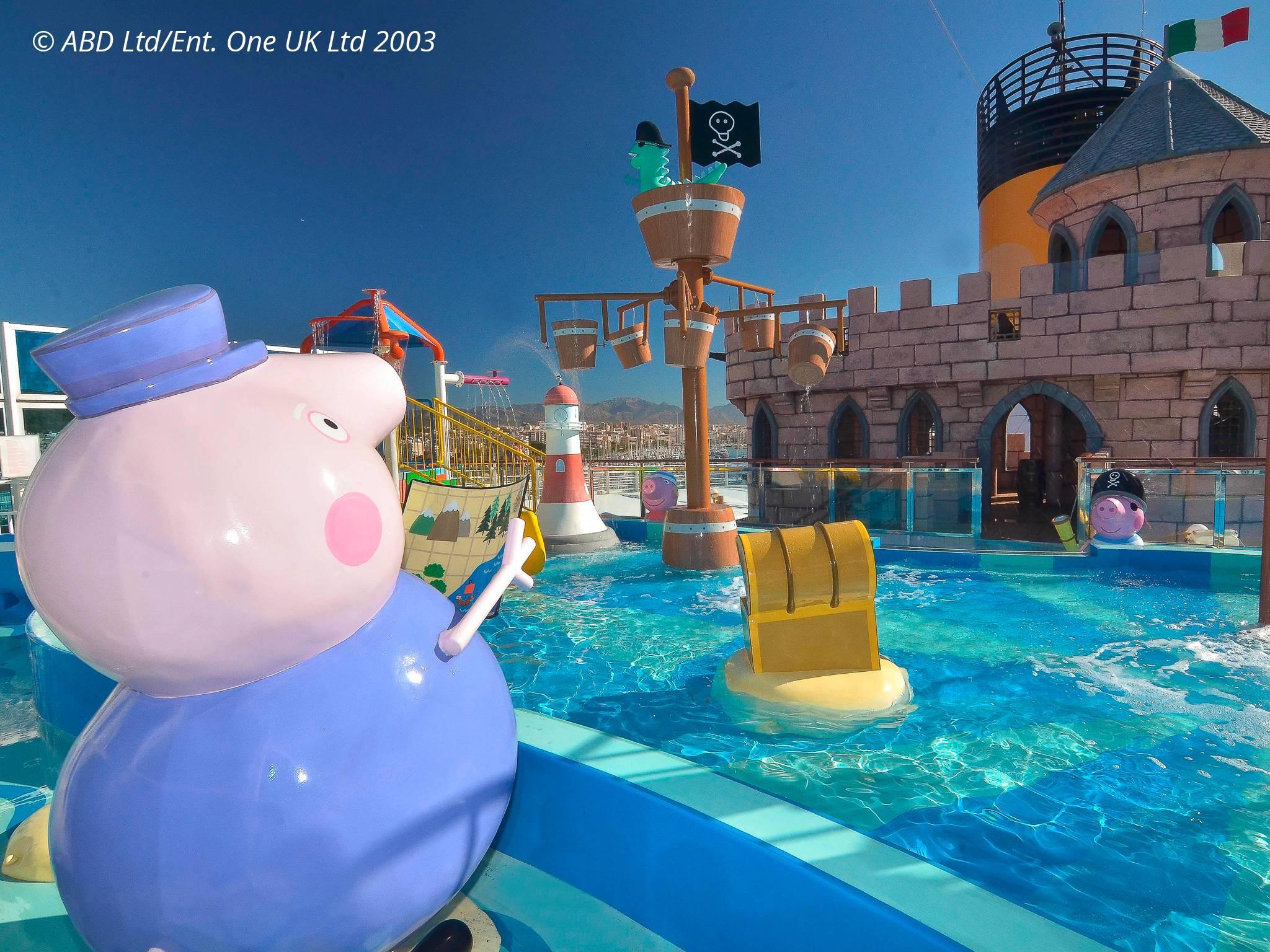 Peppa Pig, Le Divertissement Pour Enfant | Costa Croisières destiné Peppa Pig À La Piscine
