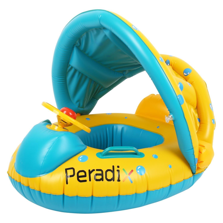 Peradix Piscine Gonflable Enfant Avec Pare-Soleil, Jeux Pas ... encequiconcerne Piscine Enfant Pas Cher