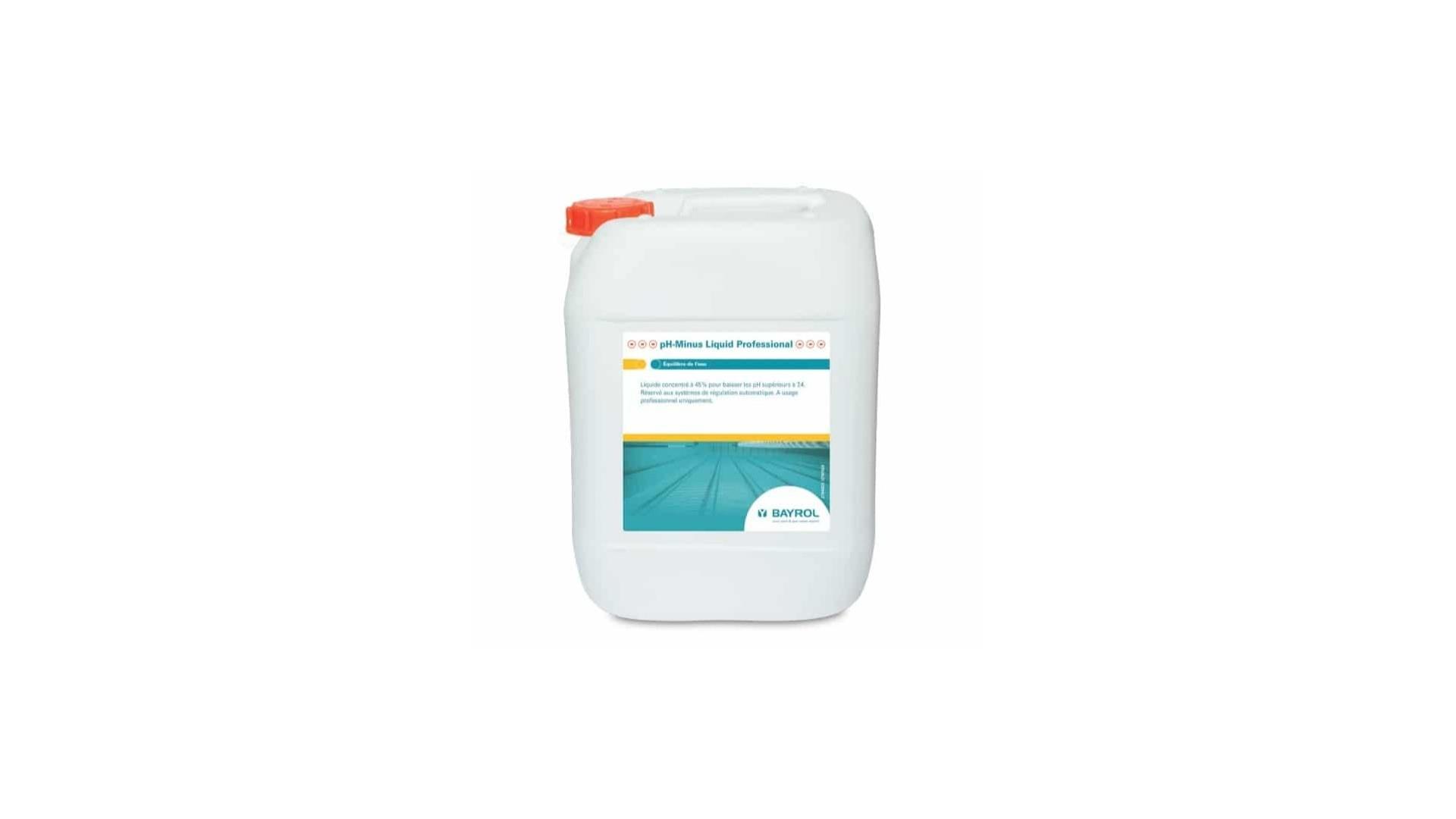 Ph Minus Liquide Professionnel Bayrol 20 L Pour Piscine Bayrol pour Acide Chlorhydrique Piscine