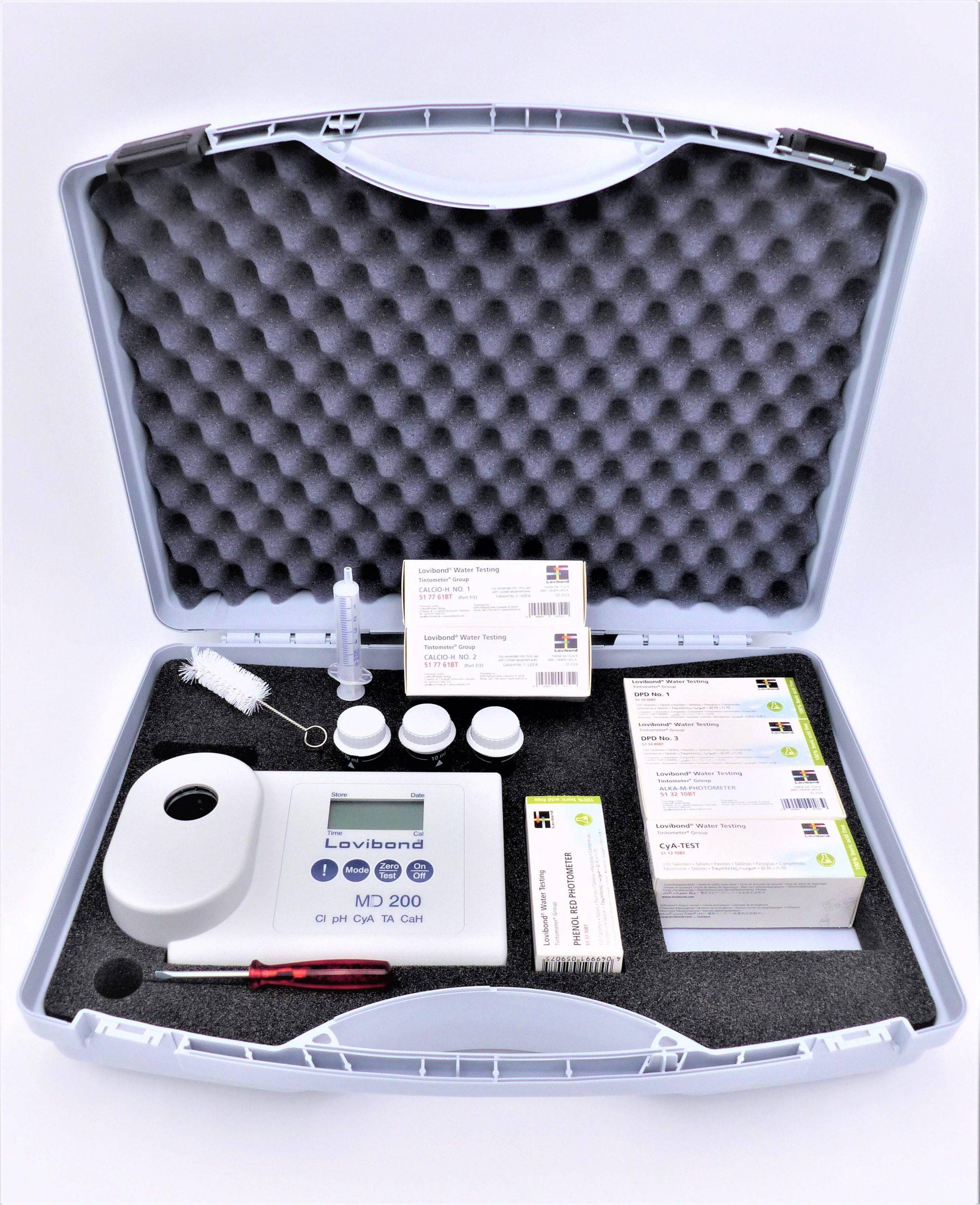 Photomètre Md200 5 En 1 Pour L'analyse De L'eau De Piscine ... avec Photomètre Piscine