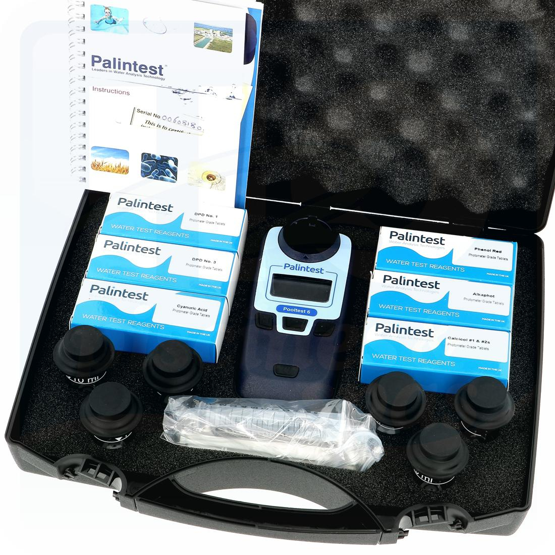 Photomètre Palintest Pooltest 6 - Cl - Ph - Br - Stabilisant - Tac - Th -  H2O Piscines & Spas intérieur Photomètre Piscine