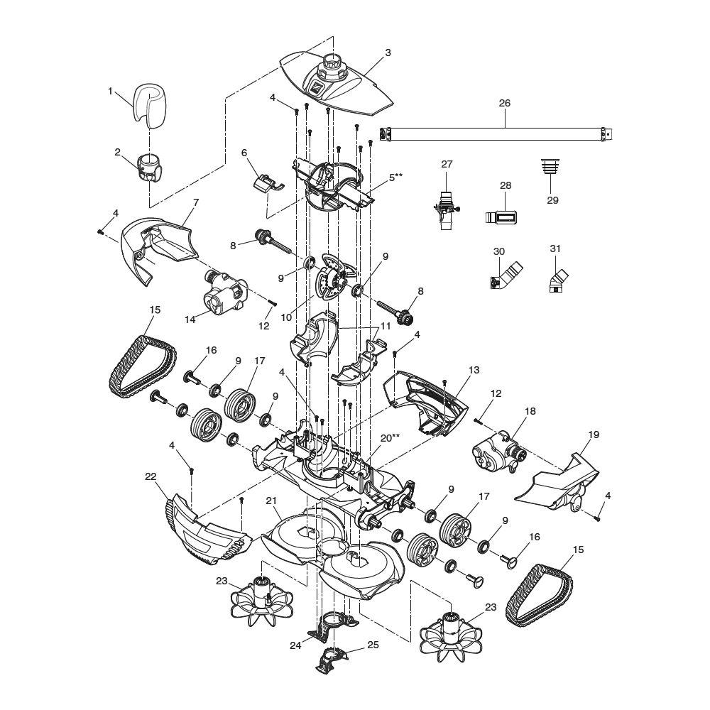 Pièces Détachées Mx8-Mx9|Comptoir De La Piscine tout Robot Piscine Zodiac Mx8