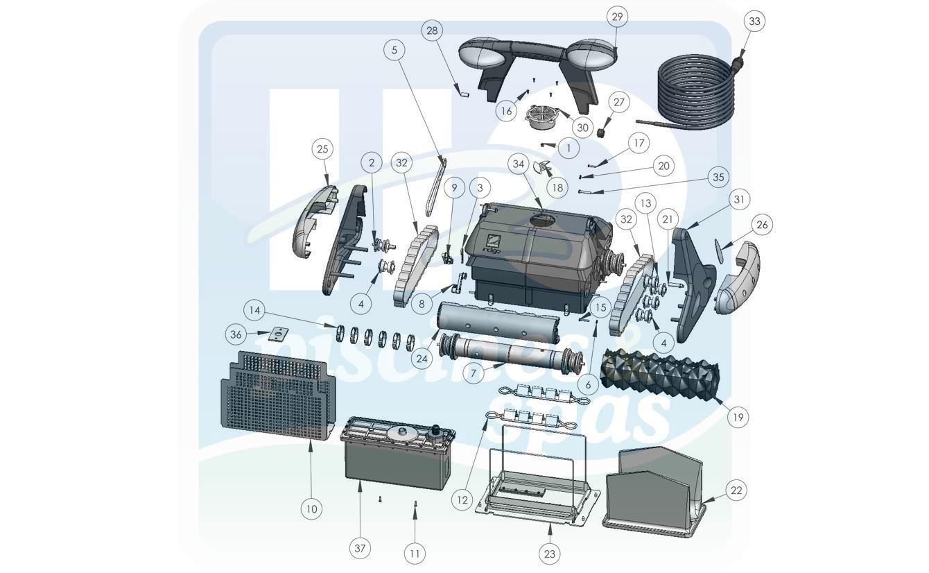 Pièces Détachées Piscines : Robots Électriques Piscines ... concernant Pieces Detachees Piscine