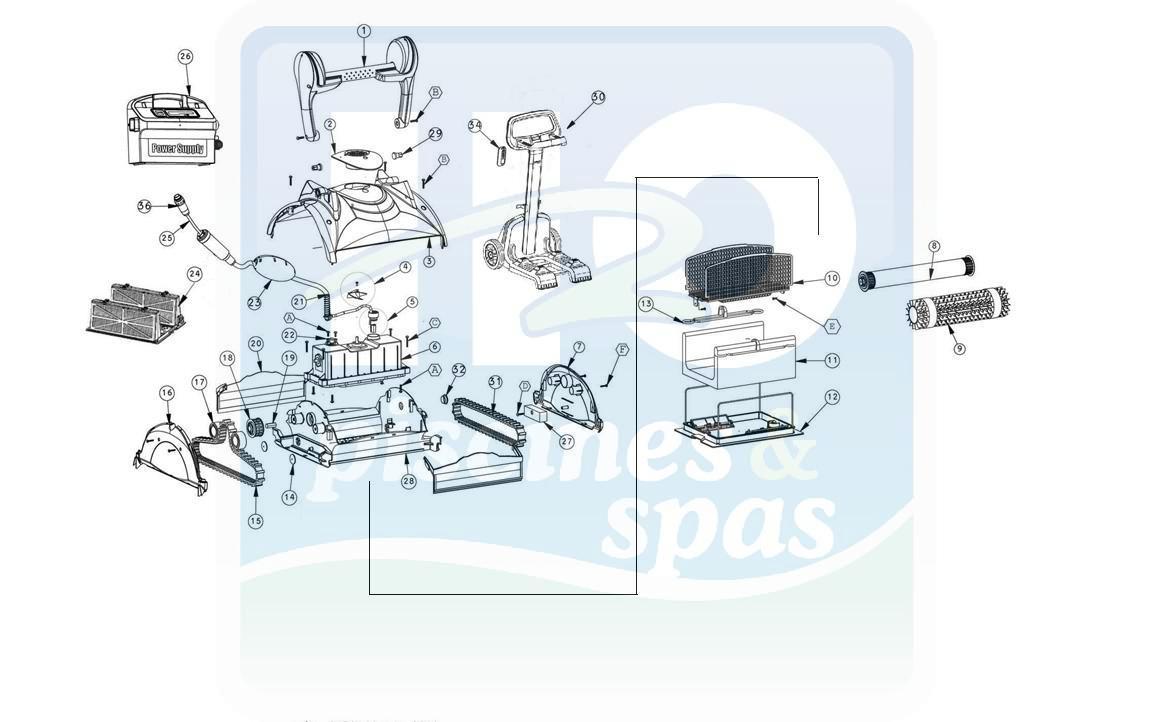 Pièces Détachées Piscines : Robots Électriques Piscines ... dedans Pieces Detachees Piscine