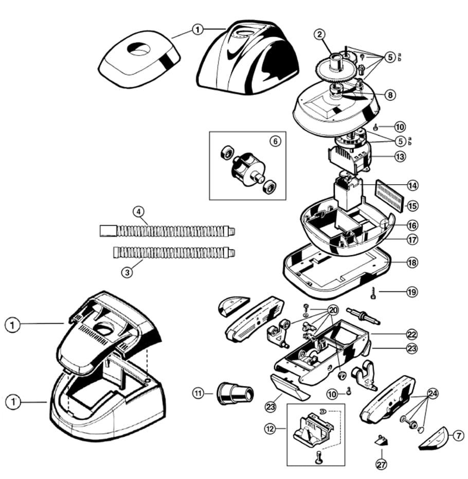 Pièces Détachées Pour Robot Piscine Hayward Pool Vac Et ... serapportantà Pieces Detachees Piscine