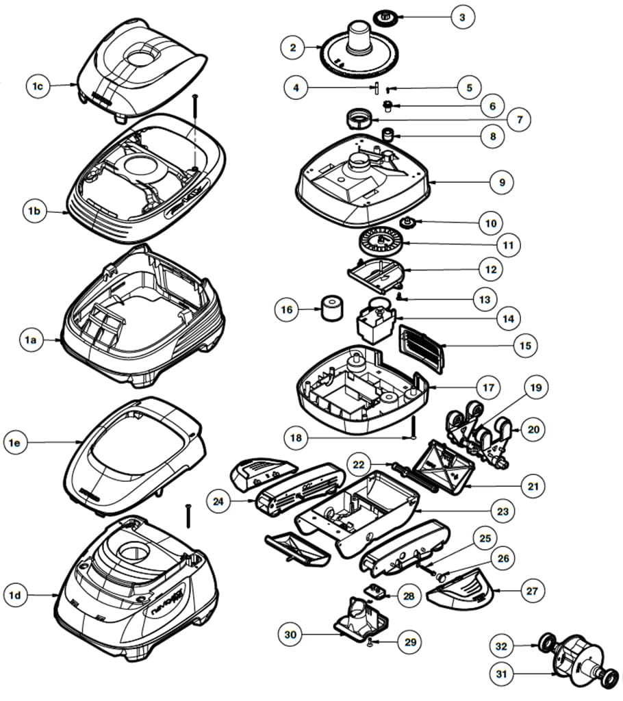 Pièces Détachées Pour Robot Piscine Hayward Pool Vac Pro Et ... pour Pieces Detachees Piscine