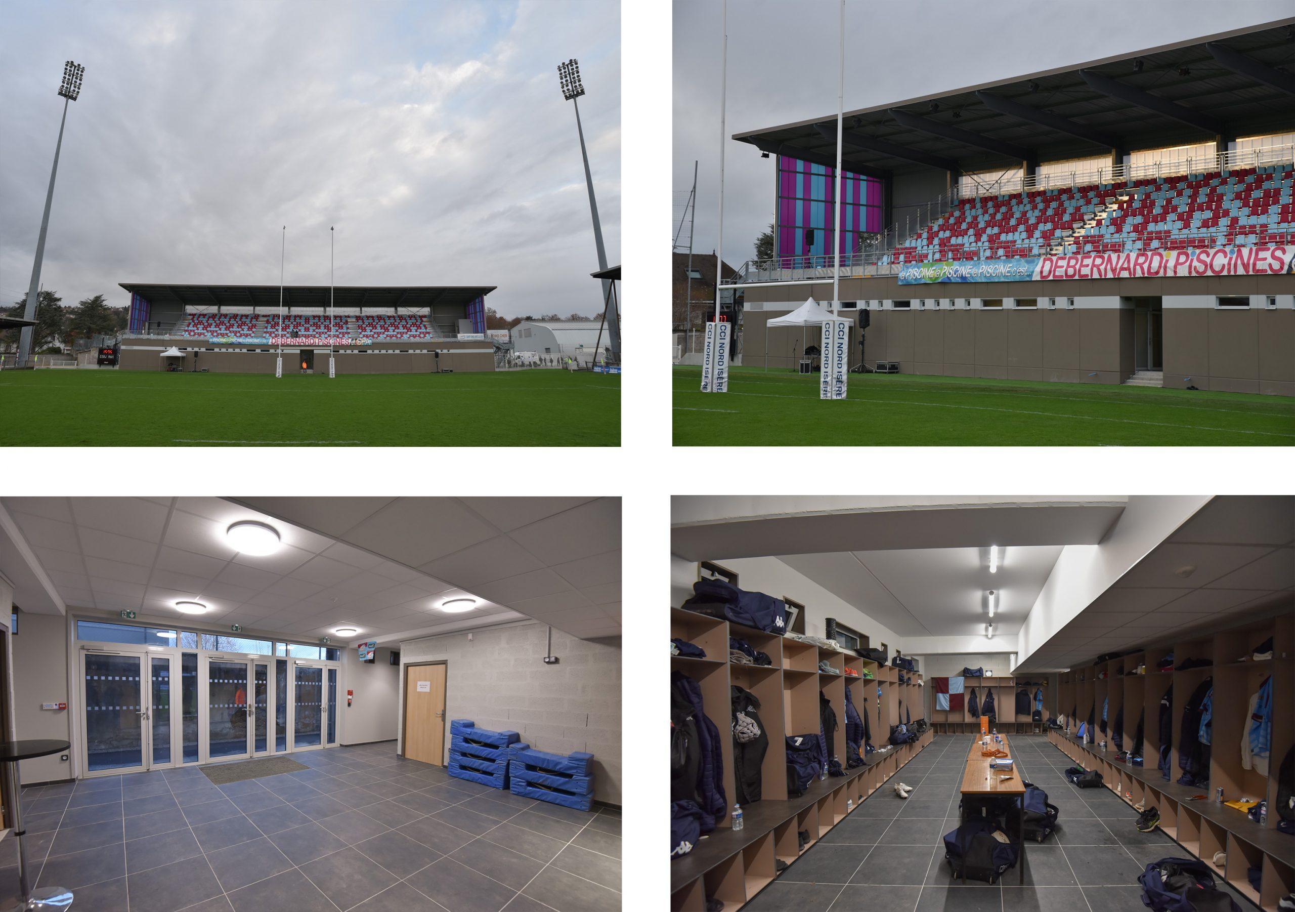 Pierre Rajon Stadium - Bourgoin-Jallieu - Stadium | Project ... intérieur Piscine Bourgoin Jallieu