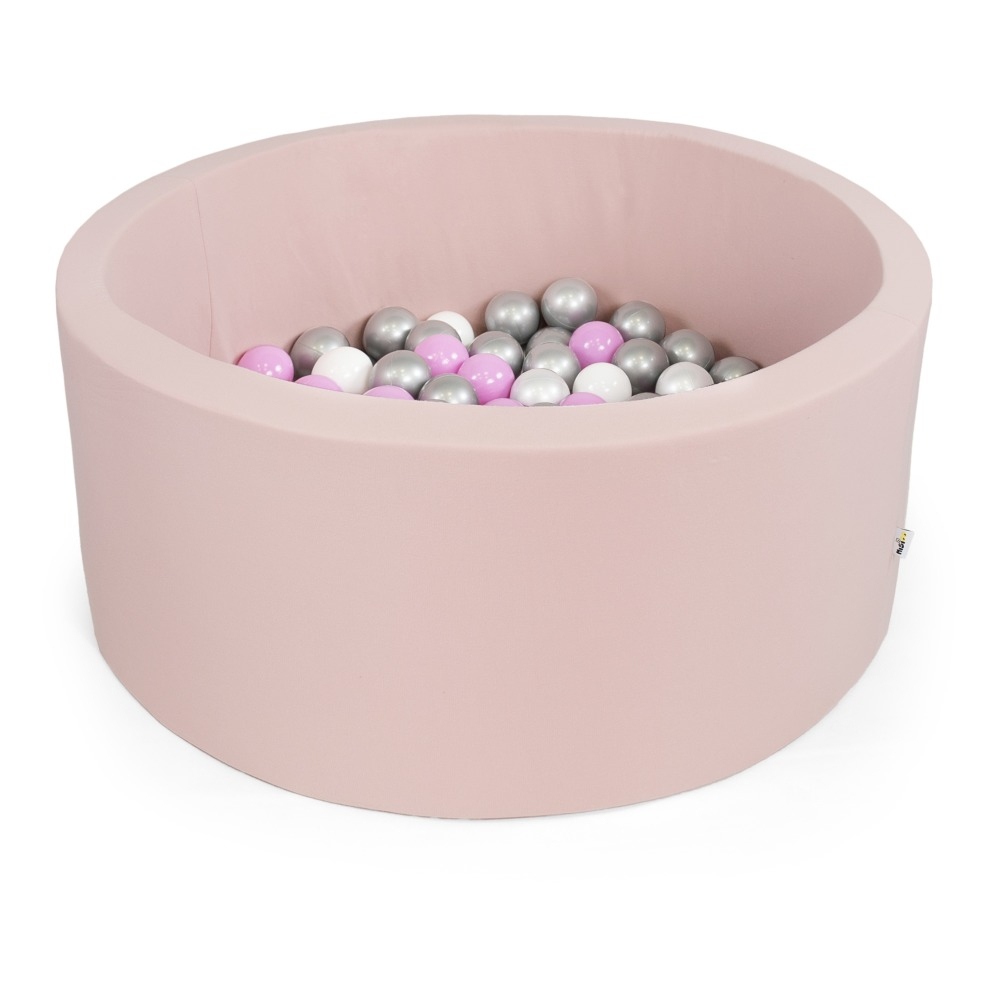 Pink, Silver, White And Transparent Ball Pool Pale Pink Misioo tout Piscine A Balle En Mousse