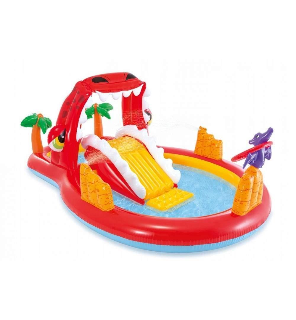 Piscina Gonflabila Intex Pentru Copii, Dragon Cu Tobogan Si Stropitori,  Multicolor encequiconcerne Tobogan Piscine